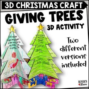 Christmas Craftivity - Giving Trees