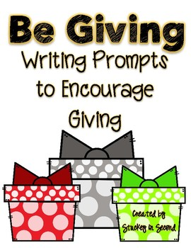 Giving Writing Prompts