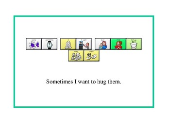 Giving a Hug Social Story with Lamp - WFL - Sequences