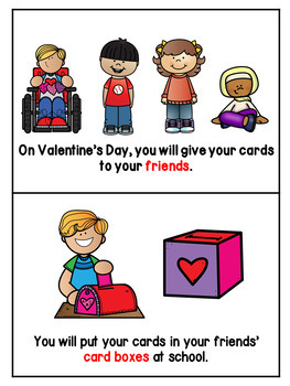 Giving a Valentine's Day Card Adapted Books