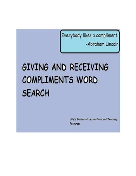 Giving and Receiving Word Search