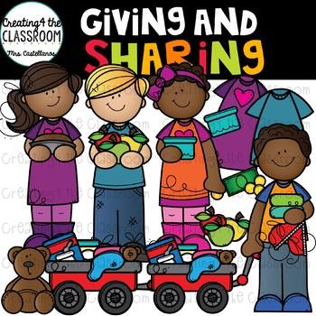 Giving and Sharing Clip Art {Thanksgiving Clip Art}