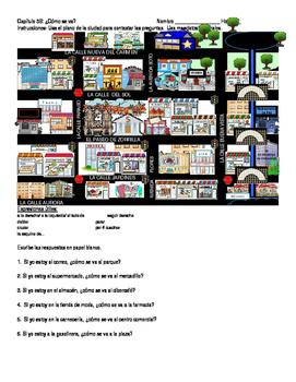 Giving directions activities (Map activities)