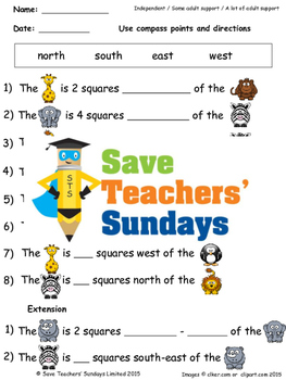 Giving directions lesson plans, worksheets and more