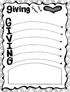 Giving from the Heart List of people to give to or gifts to give