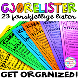 GET ORGANIZED! To do lister