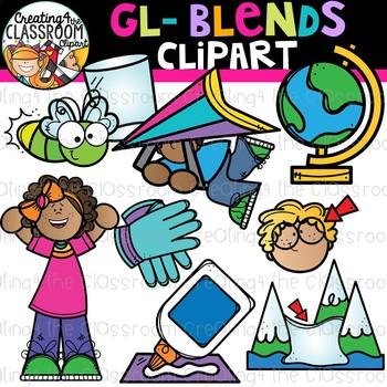 Gl- Blends Clipart {Beginning Blends Clipart}