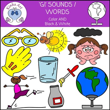 Gl Sounds / Words: Beginning Sounds Clip Art