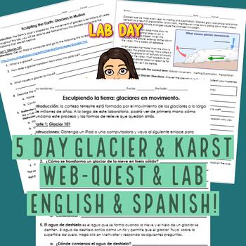 Glacier & Karst Web-Quest and Lab