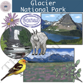 Glacier National Park Clip Art Set