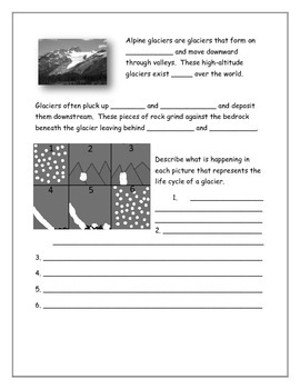 Glacier Note Taking Guide