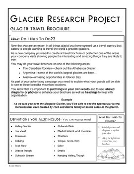 Glacier Project - Weathering / Erosion / Earth Science / Geography