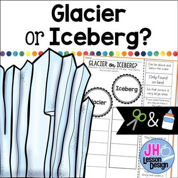 Glacier or Iceberg?  Cut and Paste Sorting Activity