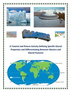 Glaciers and Erosion:  Terminology, Features, and Notes ( A HIT! )