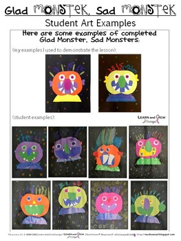 Glad Monster, Sad Monster Inspired Art Lesson