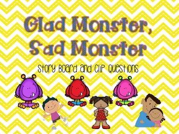 Glad Monster, Sad Monster Story Board and Comprehension Cl