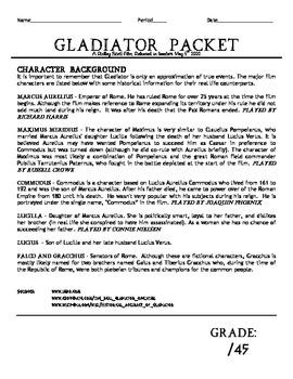 Gladiator Film Packet