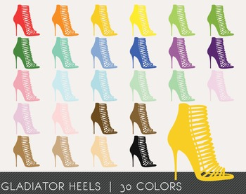 Gladiator Heels Digital Clipart, Gladiator Heels Graphics,