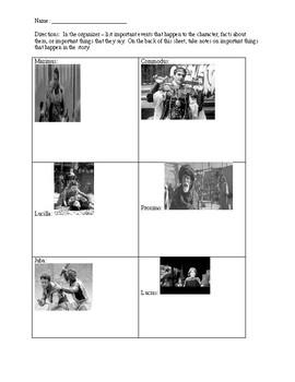 Gladiator Movie Watch-along Note-taking Sheet