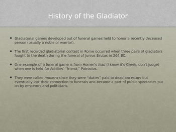 Gladiators PowerPoint