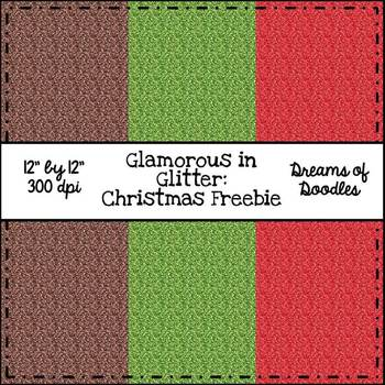 Glamorous in Glitter: Christmas Digital Paper Pack