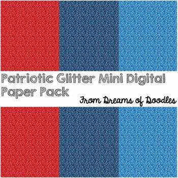 Glamorous in Glitter: Patriotic Mini Digital Paper Pack Freebie