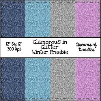 Glamorous in Glitter: Winter Digital Paper Pack