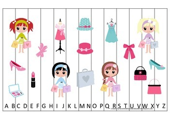 Glamour Girls themed Alphabet Sequence Puzzle child daycare curriculum activ