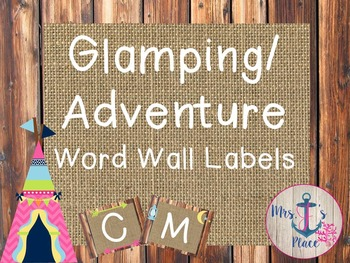 Glamping/Adventure Word Wall Labels