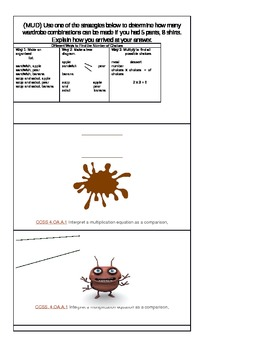 Glass, Bug, Mud Cards ( Common Core Standard 4.OA.A.1)