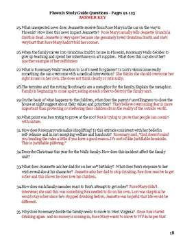 The Glass Castle Lesson - Comprehension Questions Study Guide and Answer Key