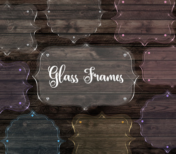 Glass Frames Clipart, Realistic Glass Labels PNG Transparent frame graphics