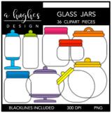 Glass Jars Clipart {A Hughes Design}