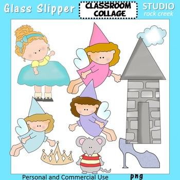 Glass Slipper Princess Fairies Tower Color clip art C Seslar