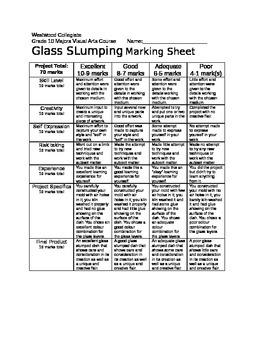 Glass Slumping Marking Sheet