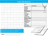 Glass Wordsearch Sheet Materials Starter Activity Keywords Homework