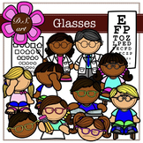 Glasses Digital Clipart (color and black&white)