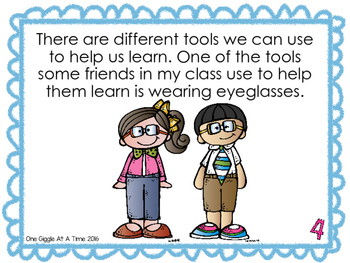 Glasses Are Tools For Learning (A Social Story)