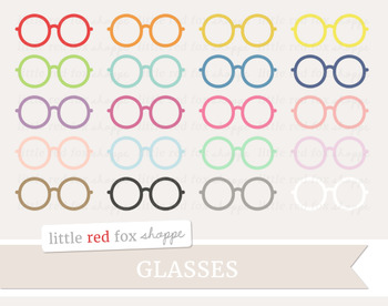 Glasses Clipart; Eyewear, Nerd, Spectacles