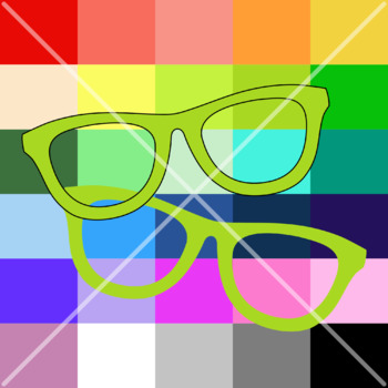 Glasses Clipart. Eyewear Clip Art. Photo Overlay. 300 dpi PNG Graphics.