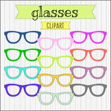 Glasses Clipart. Eyewear Clip Art. Photo Overlay. 300 dpi