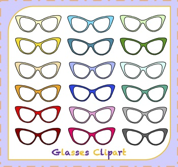 Glasses Clipart / Eyewear Clipart
