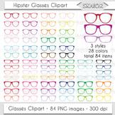 Glasses Clipart Rainbow Glasses Clip Art Eyeglasses Reading Hipster Printable