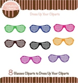 Glasses Clipart - Shaded Lenes