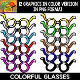 Glasses - Cliparts Set - 12 Items