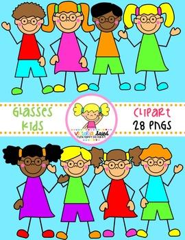 Glasses Kids Clipart