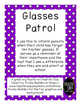 Glasses Patrol