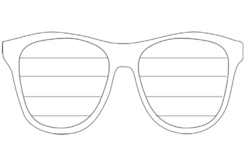 Glasses Writing Template
