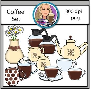 Glassware Coffee Clipart Set