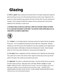 Glazing Information and Checklist